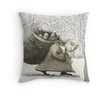 The Bottle Collector Throw Pillow