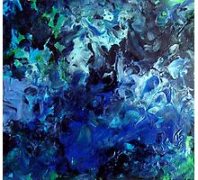 Lagoon Blue Water Abstract Painting Photographic Print