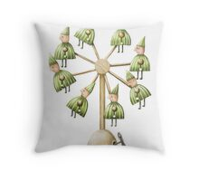 Wind it up, watch them spin! Throw Pillow