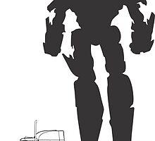 Optimus Prime by offbeatzombie