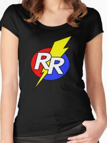 Rescue Rangers Logo Women's Fitted Scoop T-Shirt