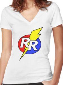 Rescue Rangers Logo Women's Fitted V-Neck T-Shirt