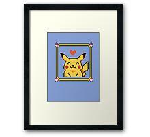 Happy Pikachu Framed Print
