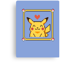 Happy Pikachu Canvas Print