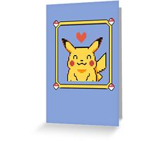 Happy Pikachu Greeting Card