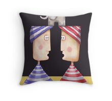 An Elephant in the Room Throw Pillow