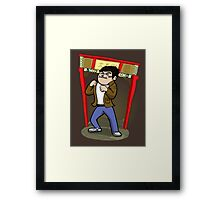 About to kick your ass. Framed Print