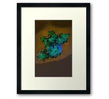 Green Green Framed Print