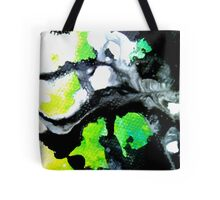 Fearless Abstract Art in black white and green Tote Bag