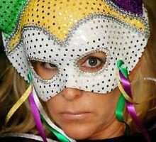 Woman with Mask by Henrik Lehnerer