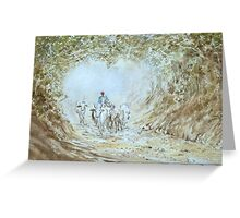 Herding cattle Greeting Card