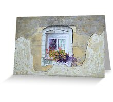 Sunlit window, France by George Deutsch Greeting Card