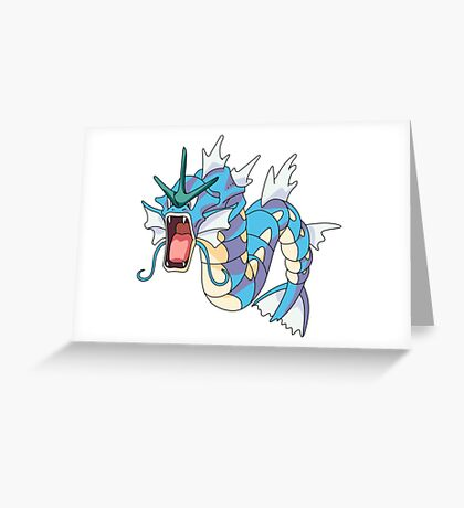 Gyrados Greeting Card