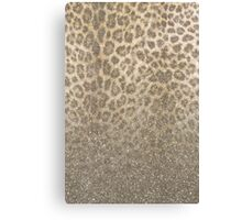 Shimmer (Golden Leopard Glitter Abstract) Canvas Print