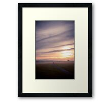 Lone Walk Into The Mist Framed Print