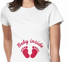 Baby inside Womens Fitted T-Shirt