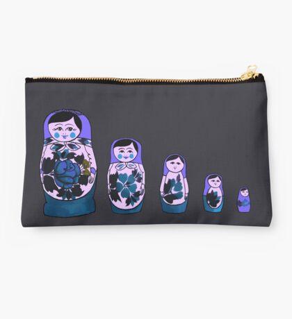 Russian Nesting Dolls - Purple Studio Pouch