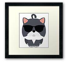 Exotic Cat Emoji Hip Cool Sunglasses Face Framed Print