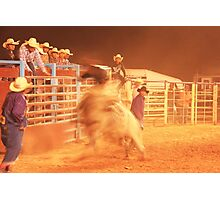Rodeo Bull Riding Photographic Print