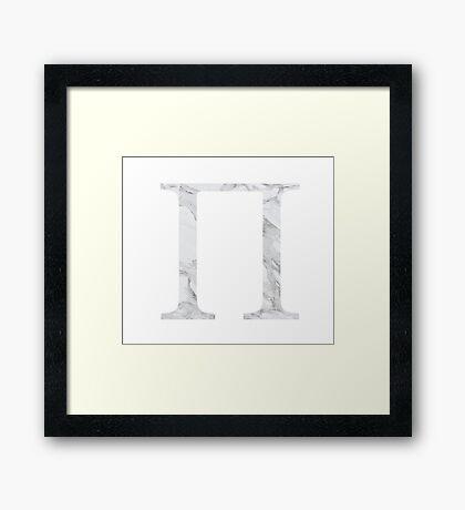 Pi-marble Framed Print