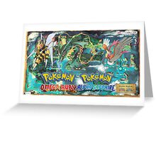 Pokemon Omega Ruby/Alpha Sapphire Mega Evolution Wallpaper Greeting Card