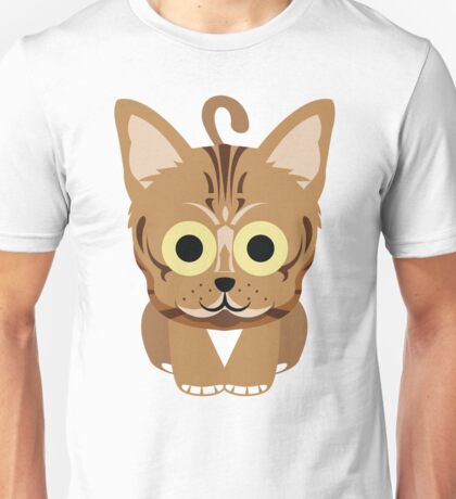 Bengal Cat Emoji Happy Smiling Face Unisex T-Shirt