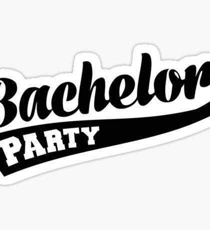 Bachelor Party Sticker