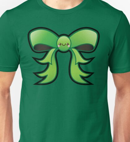 Cute Green Kawaii Bow Unisex T-Shirt