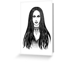 Gothic girl Greeting Card