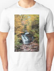 Mohican Falls Curtained With Autumn Splendor Unisex T-Shirt
