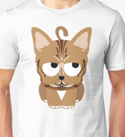 Bengal Cat Emoji Think Hard and Hmm Look Unisex T-Shirt