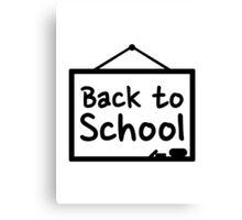 Back to School Blackboard Canvas Print