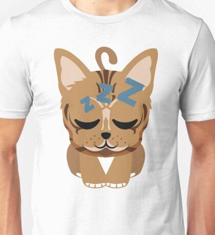 Bengal Cat Emoji Sleepy and ZZZ Face Unisex T-Shirt