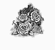 Black and white hand drawn roses Unisex T-Shirt