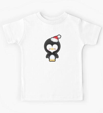 Cute Kawaii Christmas Penguin Kids Tee