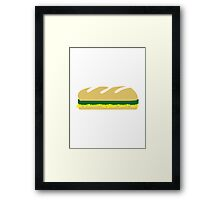 Cheese salad sandwich baguette Framed Print