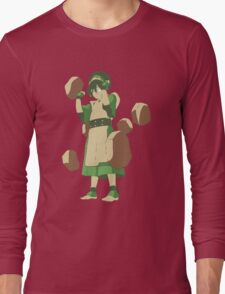 Minimalist Toph from Avatar the Last Airbender Long Sleeve T-Shirt