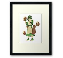 Minimalist Toph from Avatar the Last Airbender Framed Print