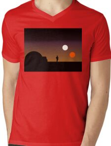 The Double Sunset... Mens V-Neck T-Shirt