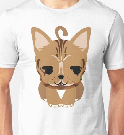 Bengal Cat Emoji Shy and Secretly Happy Face Unisex T-Shirt