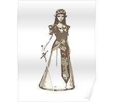 Minimalist Zelda from The Legend of Zelda Poster