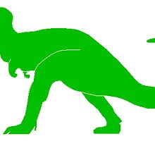 Green T-Rex by kwg2200
