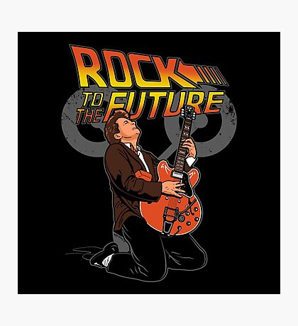 Rock to the future Photographic Print