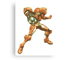 Minimalist Samus from Super Smash Bros. Brawl Canvas Print