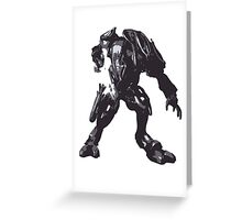 Minimalist Elite from Halo Greeting Card