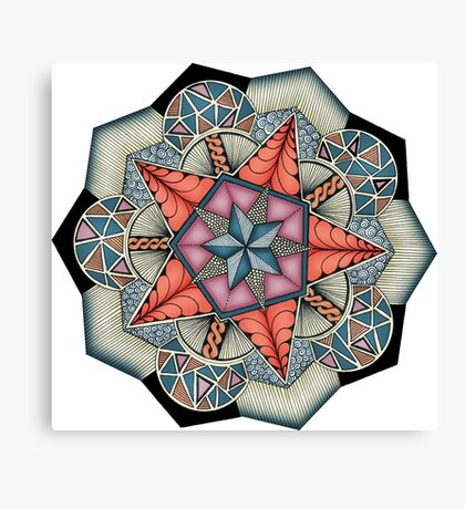 Pentacle Mandala Canvas Print
