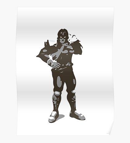 Minimalist Captain Falcon from Super Smash Bros. Brawl Poster