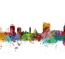 Nottingham England Skyline by Michael Tompsett