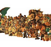 Minimalist Super Smash Bros. Brawl Calendar by Himehimine