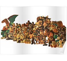 Minimalist Super Smash Bros. Brawl Cast Poster